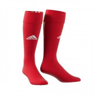 Football Socks  adidas Santos 18 Power red-White