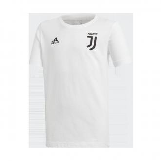 Maillot  adidas Juventus Graphic 2018-2019 enfant White-Black