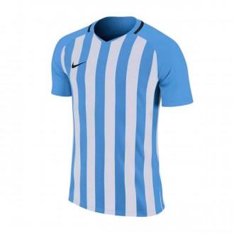 Playera  Nike Striped Division III m/c Niño University blue-White