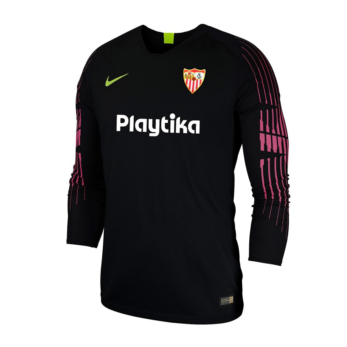 cedfdaed86b8e Camiseta Nike Sevilla FC Primera Equipación Portero 2018-2019 Niño Black -  Tienda de fútbol Fútbol Emotion