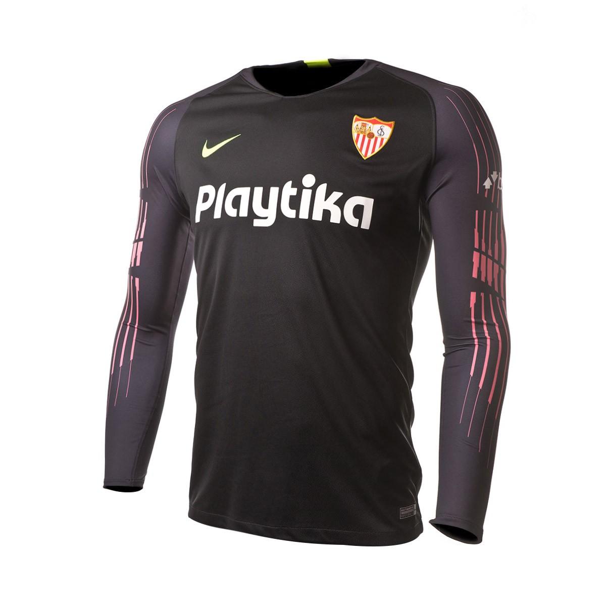 2881ff26f83db Camiseta Nike Sevilla FC Primera Equipación Portero 2018-2019 Black -  Tienda de fútbol Fútbol Emotion