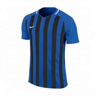 Playera  Nike Striped Division III m/c Niño Royal blue-Black