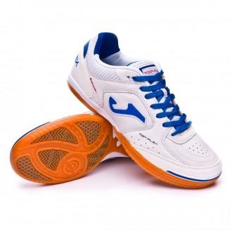 Sapatilha de Futsal  Joma Top Flex White-blue