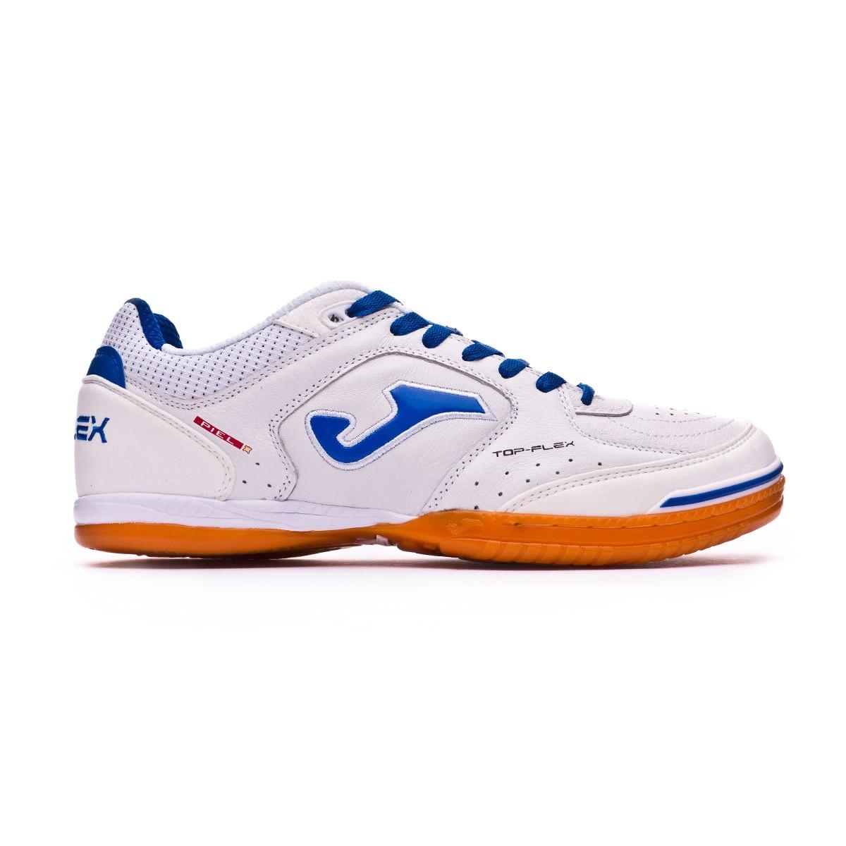 a0e0b0ef781 Futsal Boot Joma Top Flex White-blue - Tienda de fútbol Fútbol Emotion