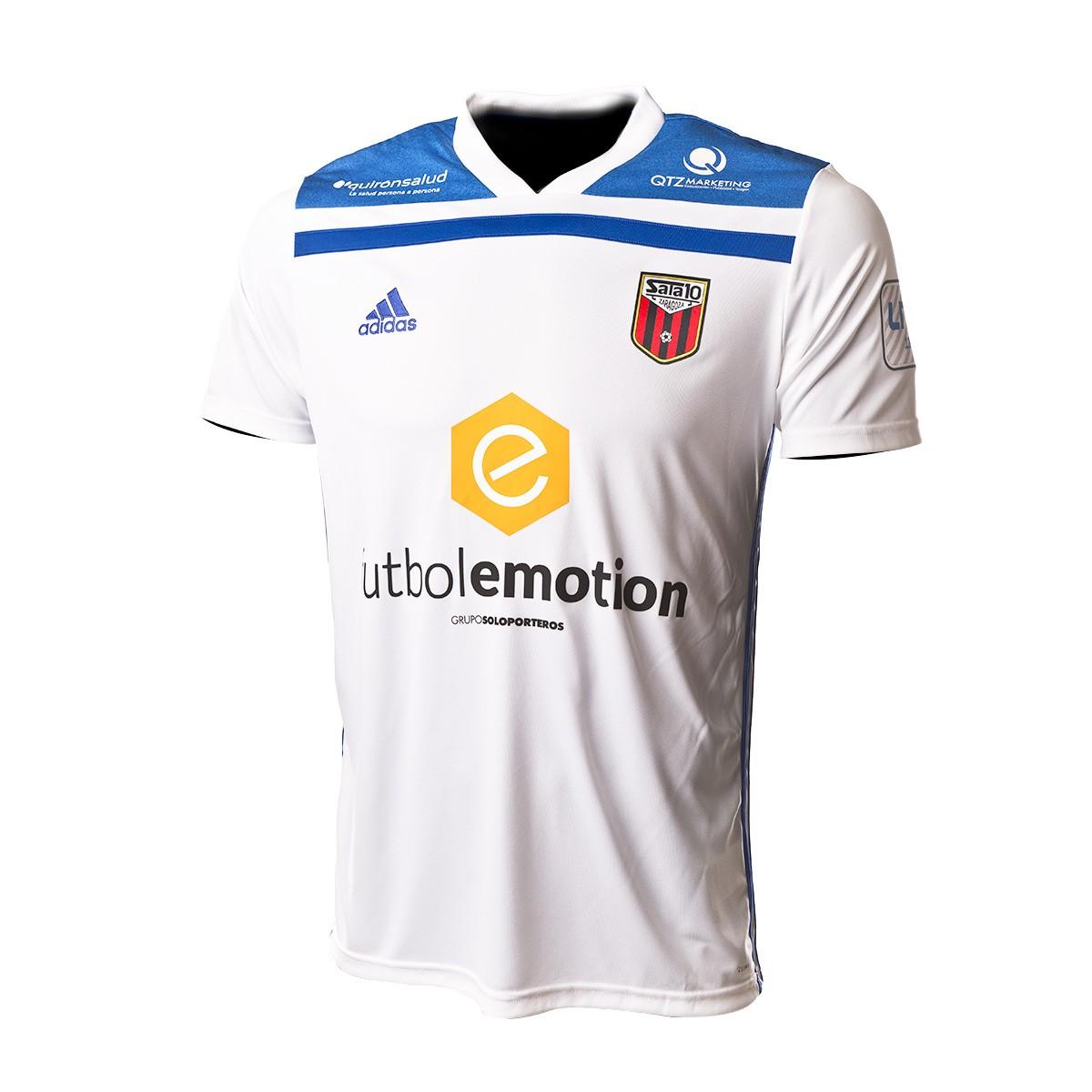 Individualidad salvar basura  Camiseta adidas Fútbol Emotion Zaragoza 1ª Equipación 18/19 Blanco-Azul  royal - Tienda de fútbol Fútbol Emotion