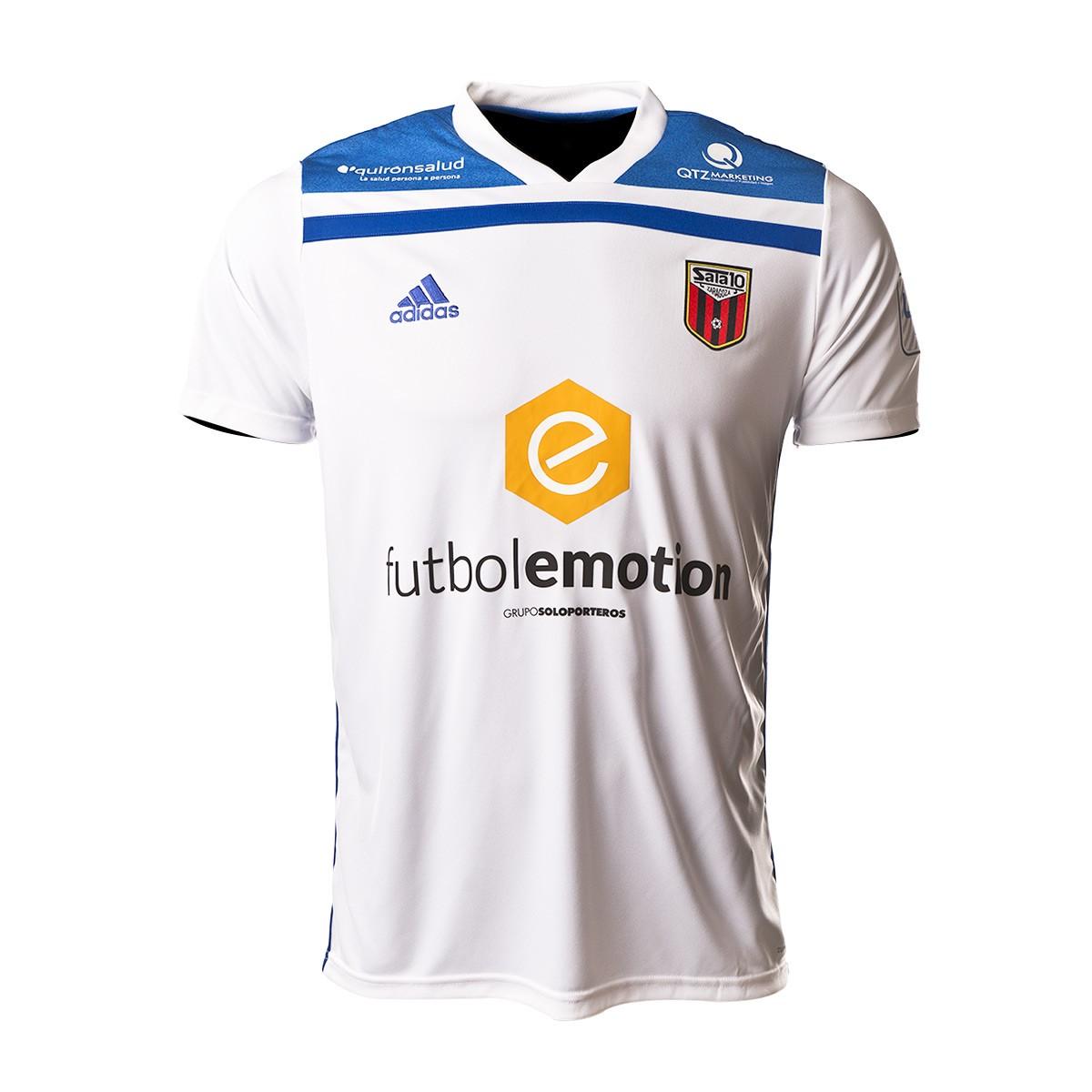 26b637d658116 Camiseta adidas Fútbol Emotion Zaragoza 1ª Equipación 18 19 Blanco-Azul  royal - Tienda de fútbol Fútbol Emotion