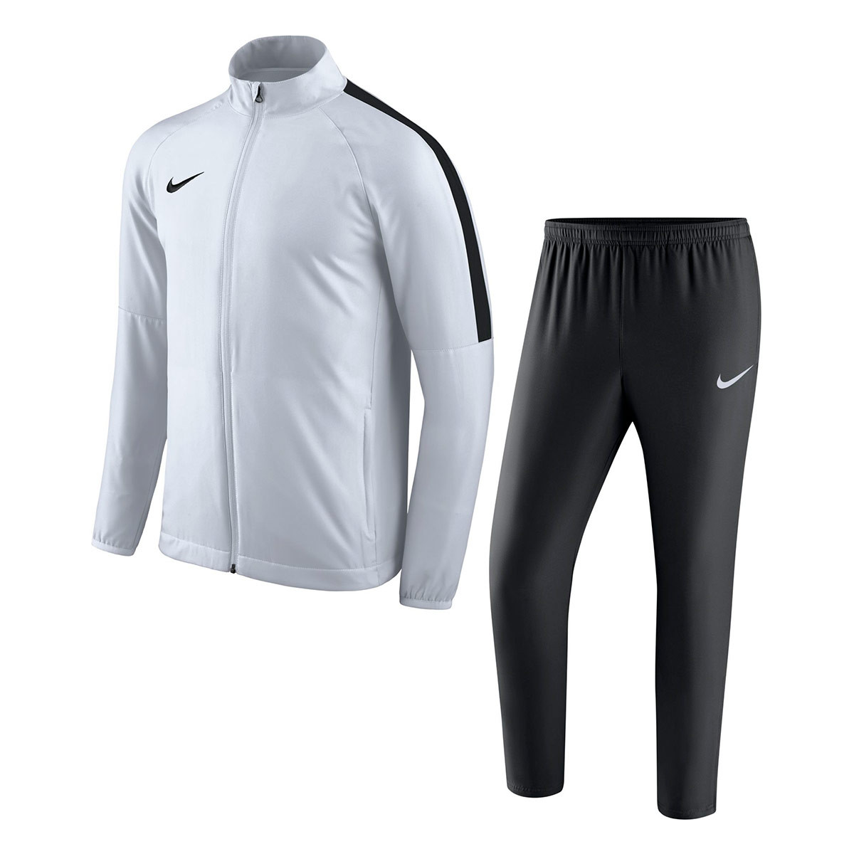 f852891f4a9d4 Tracksuit Nike Academy 18 Woven White-Black - Football store Fútbol ...