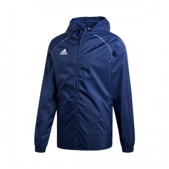 Raincoat  adidas Core 18 Dark blue-White