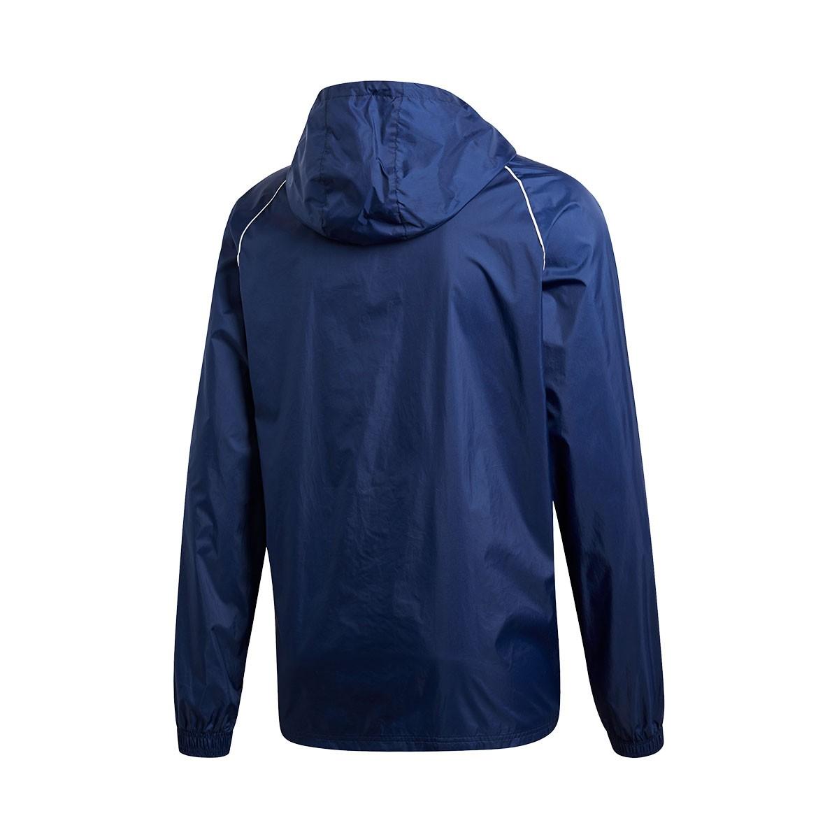 49a42ac54 Chubasquero adidas Core 18 Dark blue-White - Tienda de fútbol Fútbol Emotion