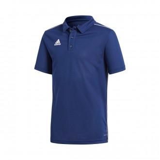 Polo shirt  adidas Kids Core 18  Dark blue-White