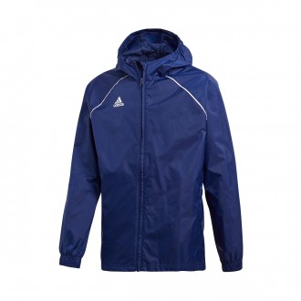 Raincoat  adidas Kids Core 18 Dark blue-White