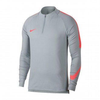 Sweatshirt  Nike Dry Squad Wolf grey-Light crimson