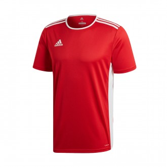 Camiseta  adidas Entrada 18 m/c Power red-White