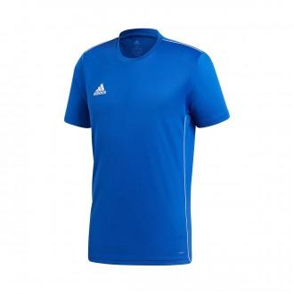 Camiseta  adidas Core 18 Training m/c Bold blue-White