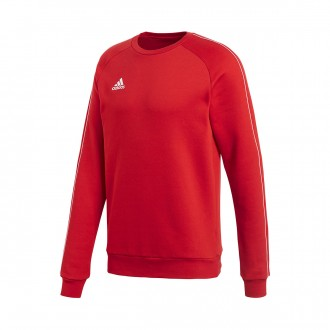 Sweatshirt  adidas Core 18 Sweat Power red-White