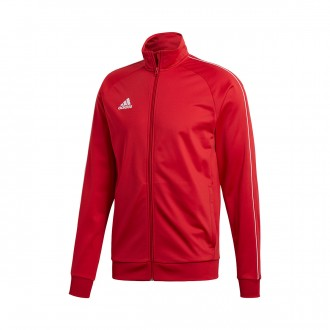 Jacket  adidas Core 18 Polyester Power red-white