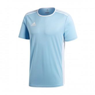 Camiseta  adidas Entrada 18 m/c Clear Blue-White