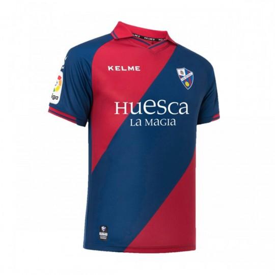 Camiseta Kelme SD Huesca Primera Equipación 2018-2019 Marino-Granate -  Soloporteros es ahora Fútbol Emotion 203d252258401