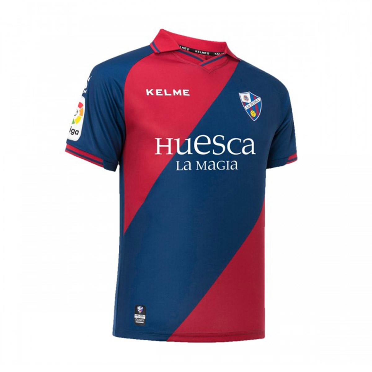 a63797a3c0a Jersey Kelme SD Huesca 2018-2019 Home Navy blue-Maroon - Football ...