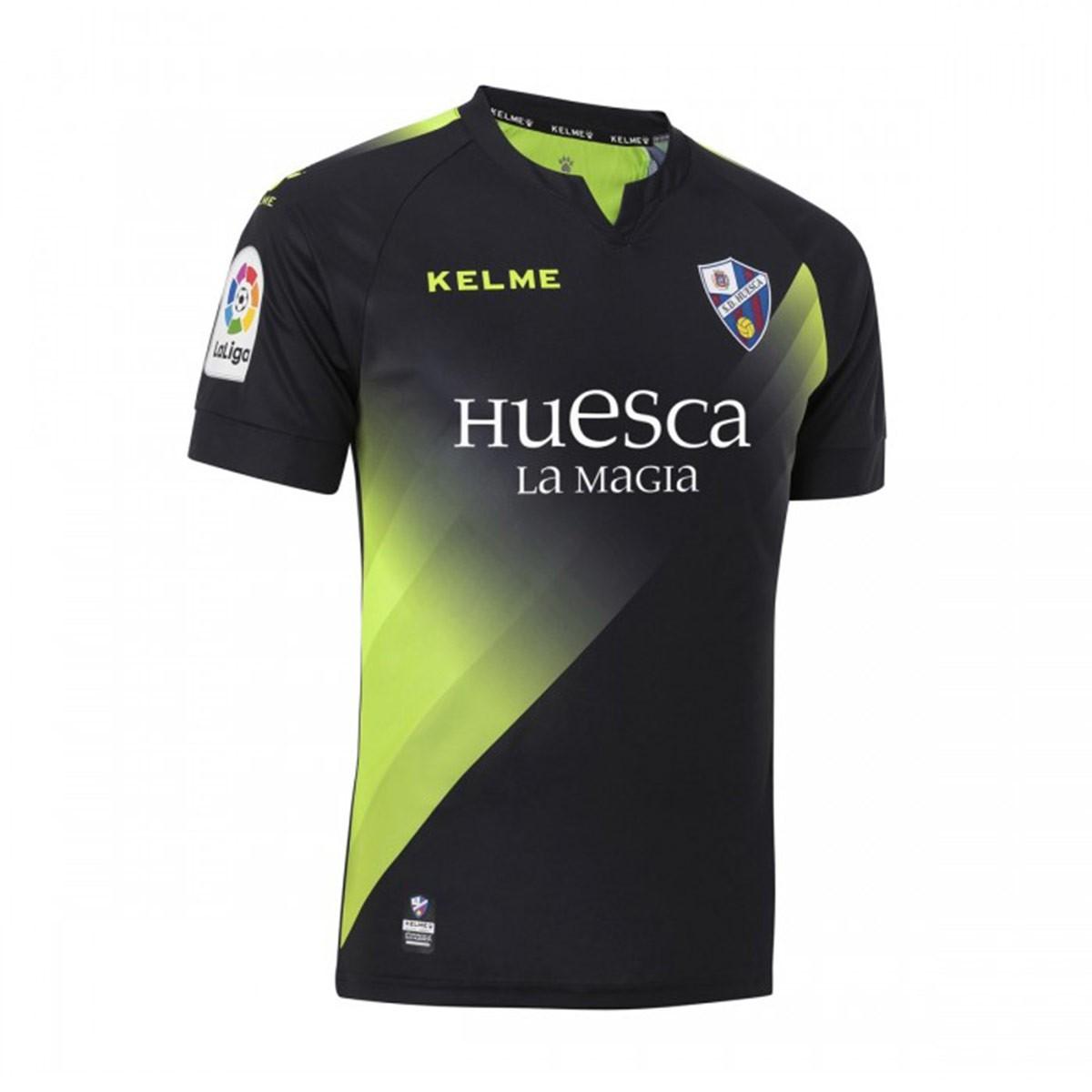 Camiseta Kelme SD Huesca Tercera Equipación 2018-2019 Negro - Soloporteros  es ahora Fútbol Emotion b8ade9459576d