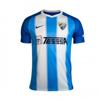 Jersey  Nike Kids Malaga CF 2018-2019 Home White-Blue