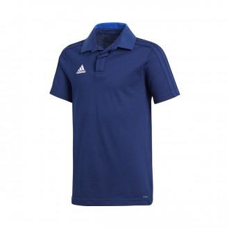 Polo shirt  adidas Condivo 18 m/c Dark blue-White