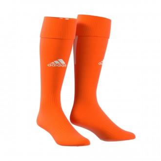 Football Socks  adidas Santos 18 Orange-White