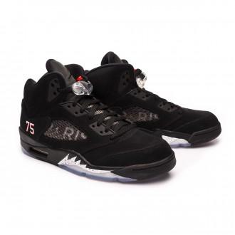 Sapatilha  Nike Air Jordan 5 Retro Jordan x PSG Black-Challenge red-White