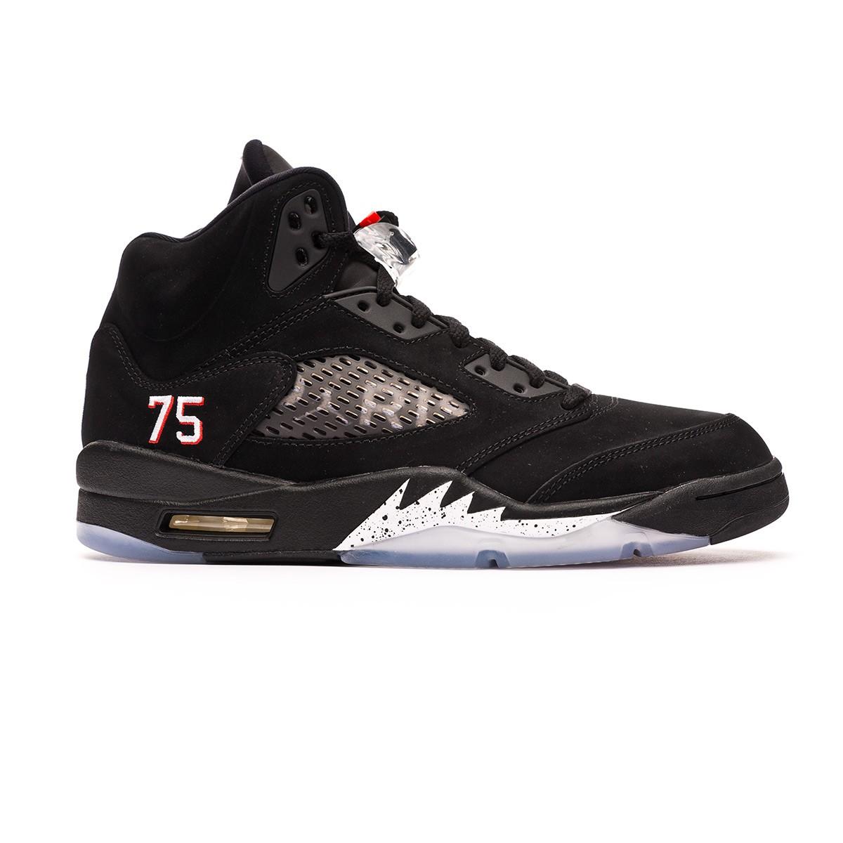 5263fafd5a5 Trainers Nike Air Jordan 5 Retro Jordan x PSG Black-Challenge red-White -  Tienda de fútbol Fútbol Emotion