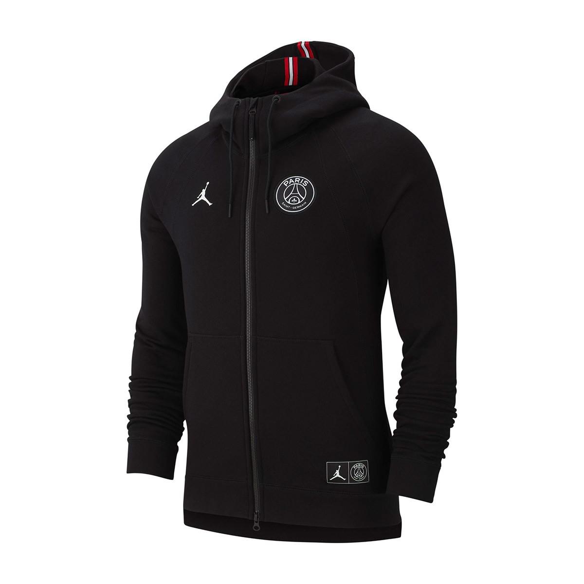 5a2780bceb6 Sweatshirt Nike Jordan x PSG Wings FZ Black-White - Football store ...