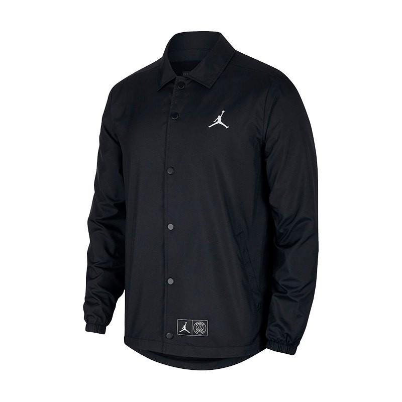 93cd7ccd33 Jacket Nike Jordan x PSG Coaches Black-White - Football store Fútbol ...