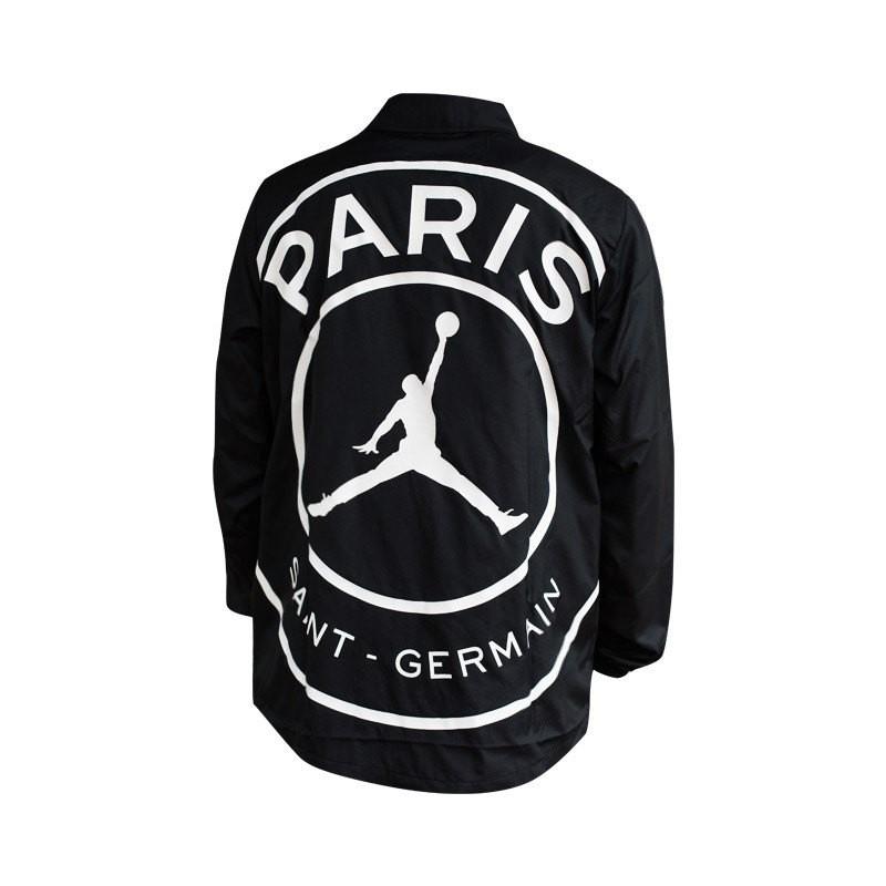 4fcf13e952cc Jacket Nike Jordan x PSG Coaches Black-White - Football store Fútbol Emotion