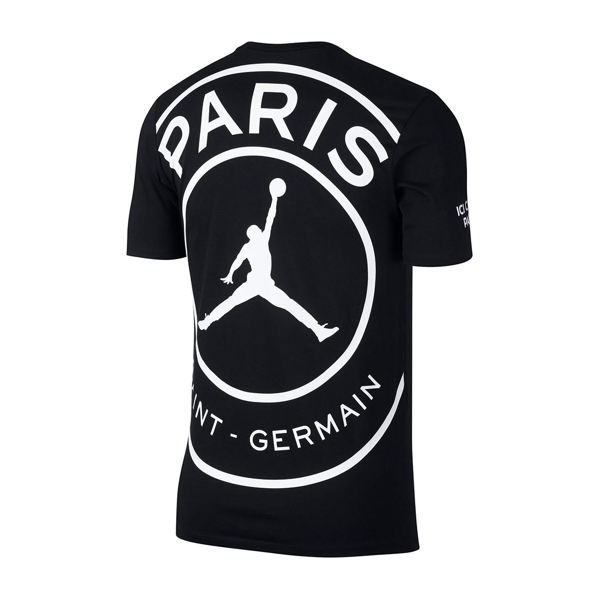 670ada05d Camiseta Nike Jordan x PSG SS Black-White - Tienda de fútbol Fútbol Emotion