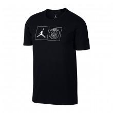 Camiseta Jordan x PSG Jock Tag Black-White