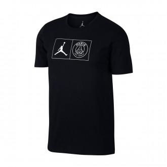Camiseta  Nike Jordan x PSG Jock Tag Black-White
