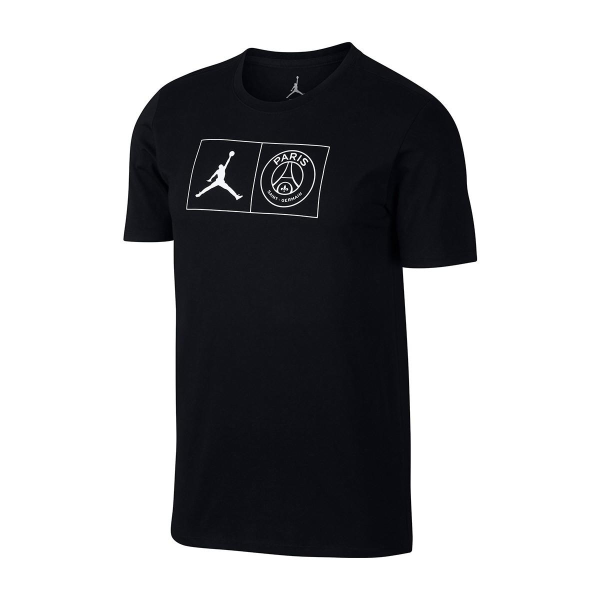 0562d8e9 Jersey Nike Jordan x PSG Jock Tag Black-White - Tienda de fútbol ...