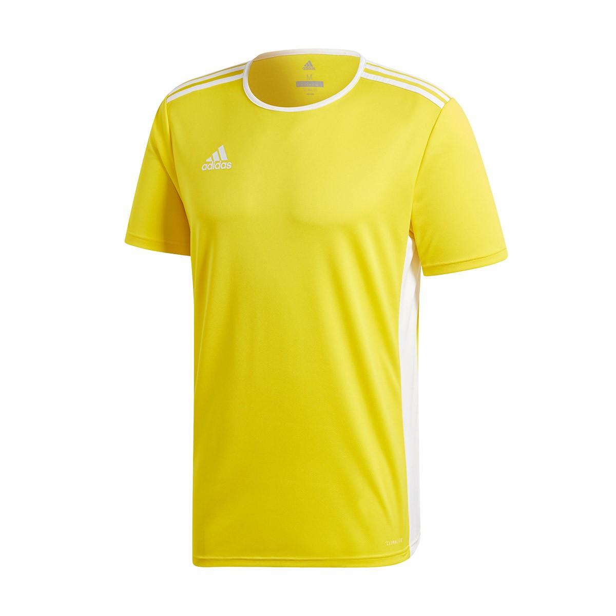 Jersey adidas Entrada 18 m/c Yellow-White - Fútbol Emotion