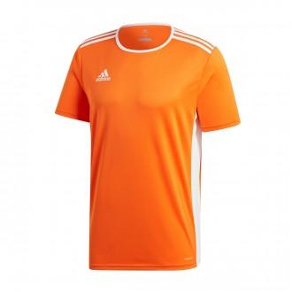 Jersey  adidas Entrada 18 m/c Orange-White