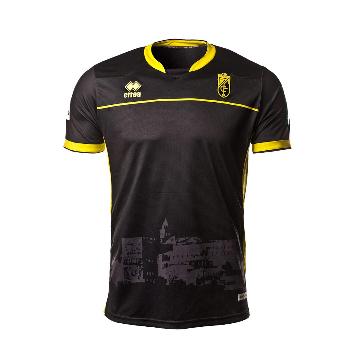 6401a9aa6ea9a Camiseta Errea Granada CF Segunda Equipación 2018-2019 Niño Negro - Tienda  de fútbol Fútbol Emotion
