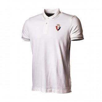 Polo shirt  Hummel CA Osasuna 2018-2019 White