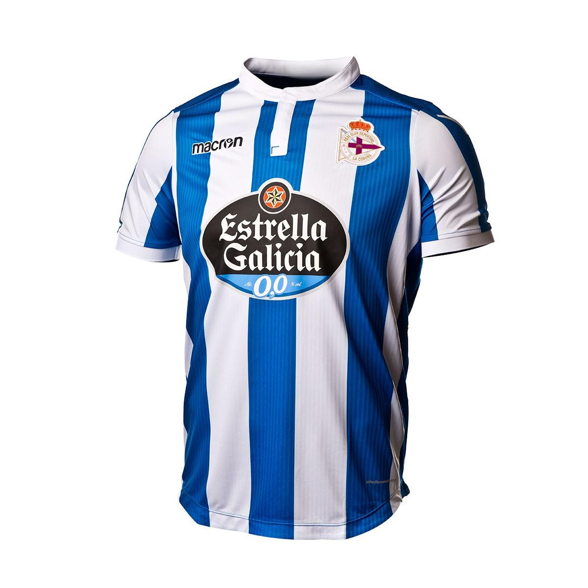 633c3a2d9 Jersey Macron RC Deportivo La Coruña 2018-2019 Home Royal-White - Football  store Fútbol Emotion