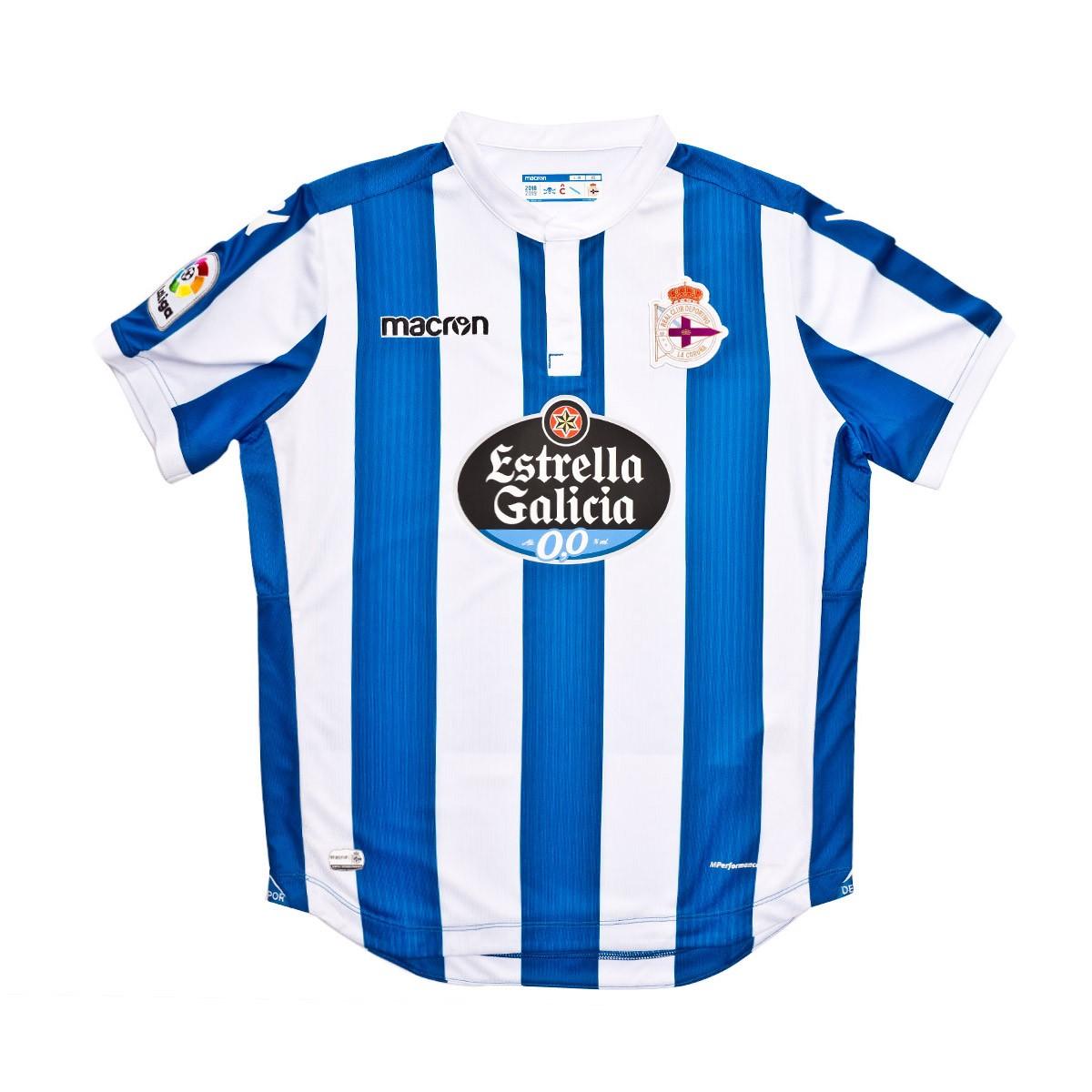 45ac3f3ce Jersey Macron Kids RC Deportivo La Coruña 2018-2019 Home Royal-White -  Tienda de fútbol Fútbol Emotion