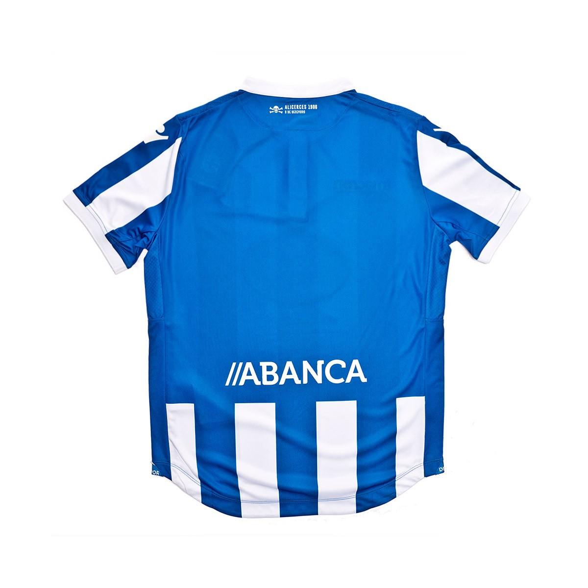 9561eb915b281 Camiseta Macron RC Deportivo La Coruña Primera Equipación 2018-2019 Niño  Royal-White - Tienda de fútbol Fútbol Emotion