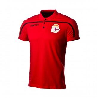 Polo shirt  Macron RC Deportivo La Coruña 2018-2019 Red-Black
