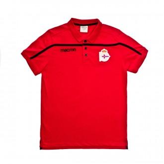 Polo shirt  Macron Kids RC Deportivo La Coruña 2018-2019 Red-Black