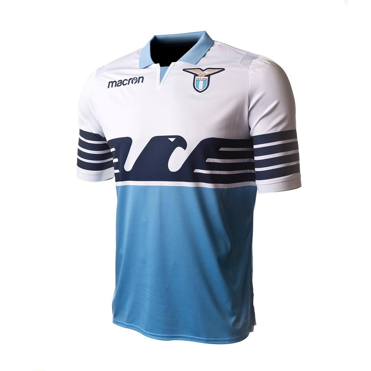 7fba892dd7 Camiseta Macron Lazio Primera Equipación 2018-2019 White-Light blue -  Soloporteros es ahora Fútbol Emotion