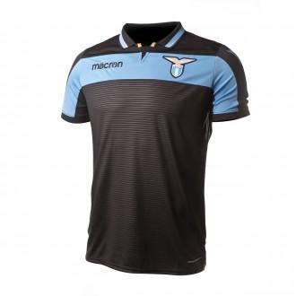 Camisola  Macron Lazio Tercera Equipación 2018-2019 Black-Ligh blue