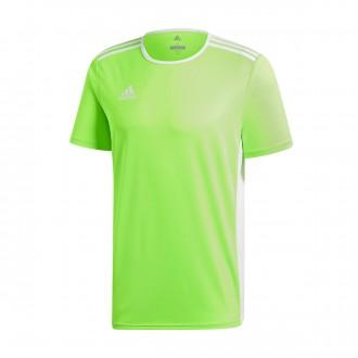 Jersey  adidas Entrada 18 m/c Solar green-White