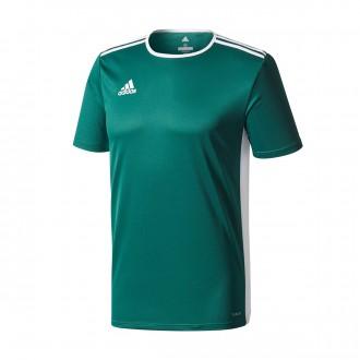 Camiseta  adidas Entrada 18 m/c Core green-White