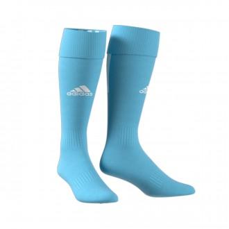 Football Socks  adidas Santos 18 Clear blue-White
